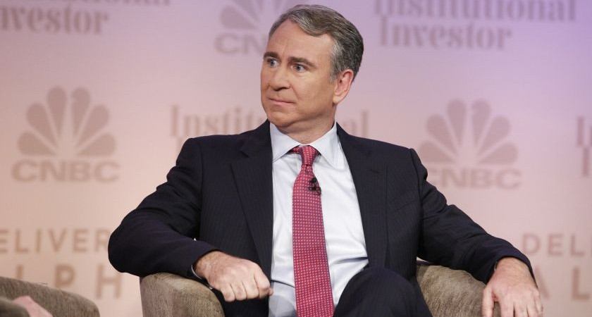 CNBC EVENTS -- Delivering Alpha 2014 -- Pictured: CNBC's Kate Kelly interviews Ken Griffin, Founder and Chief Executive Officer, Citadel at the CNBC Institutional Investor Delivering Alpha Conference in New York -- (Photo by: Heidi Gutman/CNBC/NBCU Photo Bank via Getty Images)